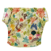 Ohbabyka Baby Training Pants Washable Reusable Nappy Nappy,Leaves and flowers