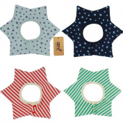 iZiv(TM) 4 PACK Baby Bibs with 4 Layers Waterproof Bib for Baby 0~3 years