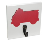 Firetruck Single Wall Hook, Red