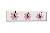 Flower Wall Hook Board, dark pink