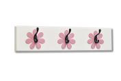Flower Wall Hook Board, dark pink