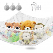 """Larger Hammock for Soft Toy Keep Baby Kids Bedroom Tidy Mesh Storage Idea for Nursery Play Can be Uesed as a Corner Hammock - Dimensions 140cm x 90cm x 35"""""""
