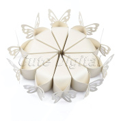 Hyalo (TM) 10pcs/pack Pink/White Butterfly Candy Bomboniere Boxes Baby Shower Christening Birthday Bridal Wedding Favours Creative Boxes