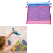 Great Deal 1 Pcs Baby Bath Toy Mesh Storage Suction Bag Kids Bathroom Toys Organiser 4535cm,Pink