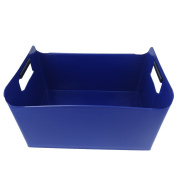 Pekky Storage Baskets/Bins with Handles,Multi-purpose (blue) O