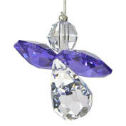 Austrian Crystal Guardian Angel Birthstone Suncatcher - Amethyst - Feb