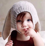 Rabbit Ears Knitted Hat Infant Toddler Cap For Children 0-3 Yrs