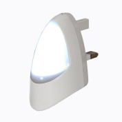 Automatic LED Night Light Dusk 2 Dawn LED Sensitive, White, Plug in