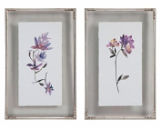 Floral Watercolours Art, S/2
