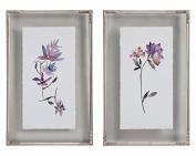 Floral Watercolours Art, S/2