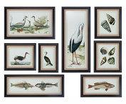 Seashore Collage Prints, S/8