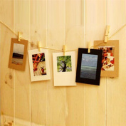 GOTD Wall Decor DIY Paper Photo Picture Frames Hanging Film Frame Set with Long Rope for Living Room Bedroom 15cm
