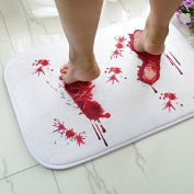 Zebratown 4060cm Thrilling Blood Foot Bath Mat Pad Cushion Bloody Bath Mat