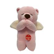Angel Musical Prayer Bear Pink - Spanish - Padre Nuestro Prayer