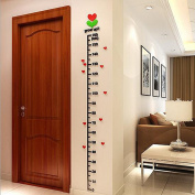 ELEAR Acrylic Tree in Bud Kids Height Chart Stickers on The Wall Children DIY Décor Home room Decals Wall Art Sticker