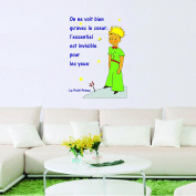 Little Prince Shape Quote - Wall Decal For Home Car Laptop - Vinyl Sticker - Famous Book