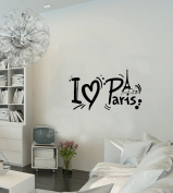 Paris Wall Decal French France Paris Eiffel Tower Paris Inspirational Wall Sticker Quotes Wall Decorations Décor Wall Decals for Girls Room