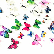 Pack of 72pcs 3D Colourful Butterfly Wall Stickers Murals Wall Decals Wall Decorations Art Decor Decal for Nursery Room Classroom Offices Kids Bedroom TV Background Living Room