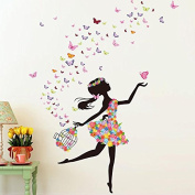 DIY Wall Sticker Butterfly Wall Decals Ballet Girl Poster Stickers for Home Decor Living Room Wall Decoration
