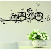 Wall Sticker,SMTSMT Art Cartoon Owl Butterfly Wall Sticker
