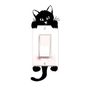 SMTSMT Cat Wall Stickers Light Switch Decor Decals Art Mural Baby Nursery Room