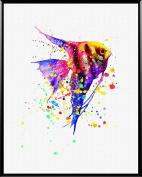 Aprikskys Workshop 28cm X 36cm Rainbow Tropical Fish Painting Canvas Print Boys Room Girls Room Kids Décor Nursery Decor Art Print Wall Decor Home Décor Room Deco Gift A1051