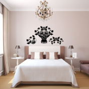 Wall Decal Vinyl Sticker patterns rose flowers decoration Gift bedroom a136