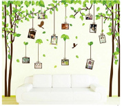 Yeme XL Family tree Wall decals, photo frame wall stickers, easy peel and stick memory tree