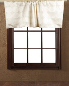 TSC Ivory Linen and sphere embroidered Cafe window treatment Valance lined 130cm W X 46cm Drop