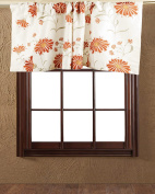 TSC Ivory faux silk with floral embroidered Cafe window treatment Valance lined 130cm W X 46cm Drop
