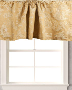 TSC Woven ancient society on faux silk fabric Cafe window treatment Valance lined 130cm W X 46cm Drop