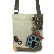 Chala Paw Print Patch Crossbody Bag, Sand