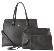 Diophy PU Leather Multi Spaced Large Tote with Medium and Small Bags Inside 3 Pieces Set Womens Purse Handbag GS-3434
