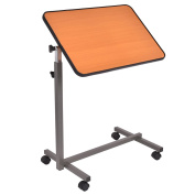 Gracelove Rolling Over the Bed Table Laptop Food Tray Hospital Desk
