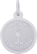 Rembrandt Charms Sterling Silver Holy Communion Charm on a Sterling Silver Box Chain Necklace, 46cm
