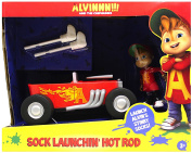 Alvin and the Chipmunks Sock Launchin' Hot Rod Vehicle and Figure New Cartoon Release