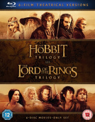 The Hobbit Trilogy/The Lord of the Rings Trilogy [Blu-ray]