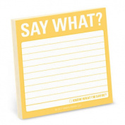 Say What? Sticky Note