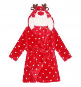 DELEY Unisex Baby Girls Boys Animal Cartoon Supersoft Flannel Warm Hooded Bathrobe Pyjamas Sleepwear Nightgown