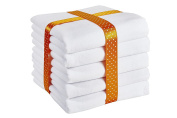 ByBoom® - Molton cloths - flannel nappies - sickly cloths - colourful, fluffy, soft - 70x80 cm - pack of 5, 100% cotton; MADE IN EU, Colour:White