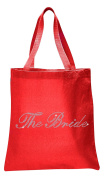 Varsany Red The Bride Luxury Crystal Bride Tote bag wedding party gift bag Cotton