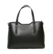 Real Italian Premium Leather Tote Handbag Purse with Metal Women's Fashion