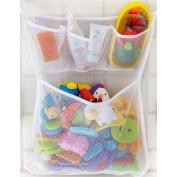 JETTINGBUY Bath Tub Toy Storage Mesh Bag Tidy Suction Net, Toy Mesh Net Storage Bag, Baby Bath Toy Organiser