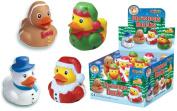 boho 4 Christmas Rubber Bath Ducks,Snowman,Santa,Elf,Gingerbread Man.Stocking Filler