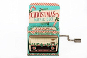 WE WISH YOU A MERRY CHRISTMAS Mini Mechanical Crank Music Box