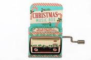 WE WISH YOU A MERRY CHRISTMAS Mini Mechanical Crank Music Box