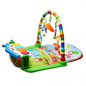 4 in 1 Baby's Kick and Play Piano Gym Musical Activity Playmat with Rattles Toys by Beby