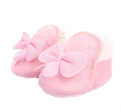 2Pair(4PCS)Unisex Baby Cute Thicken Add Wool Non-Skid Walkers Snow Boots Bowknot Crib Shoes for kids Colour By Random