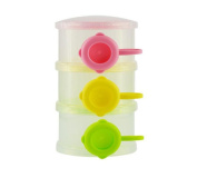 Da.Wa Baby Milk Powder Dispenser Portable Three-layer Individual Compartment with Side Opener