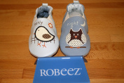 Robeez Early Bird/Night Owl Blue Unisex Reversible Shoes
